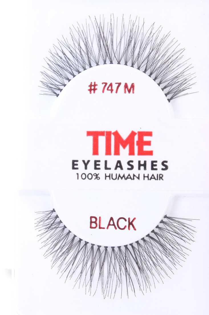 Black Long Full Glamour Human Hair Eyelashes