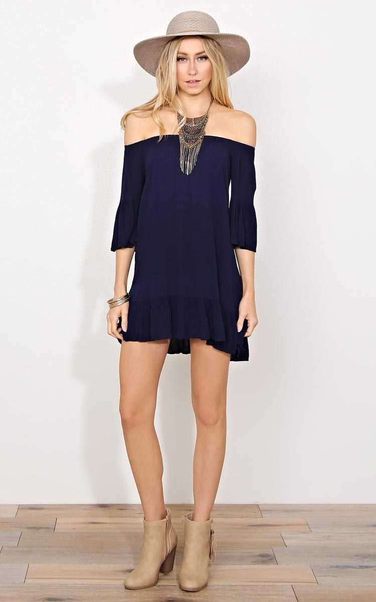 Navy My Girl Woven Dress - - Navy in Size by Styles For Less