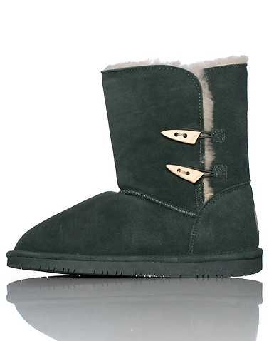 BEARPAW WOMENS Dark Green Footwear / Boots
