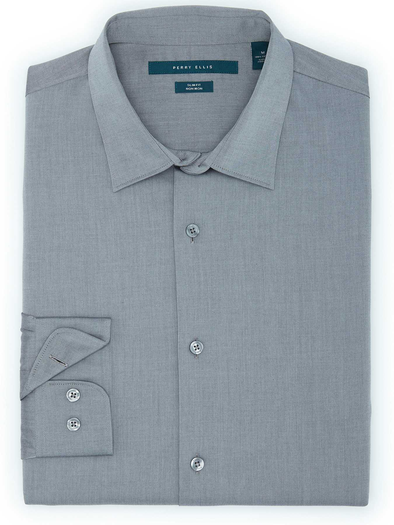 Perry Ellis Non-Iron Slim Fit Essential Shirt