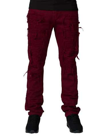 DECIBEL MENS Burgundy Clothing / Jeans