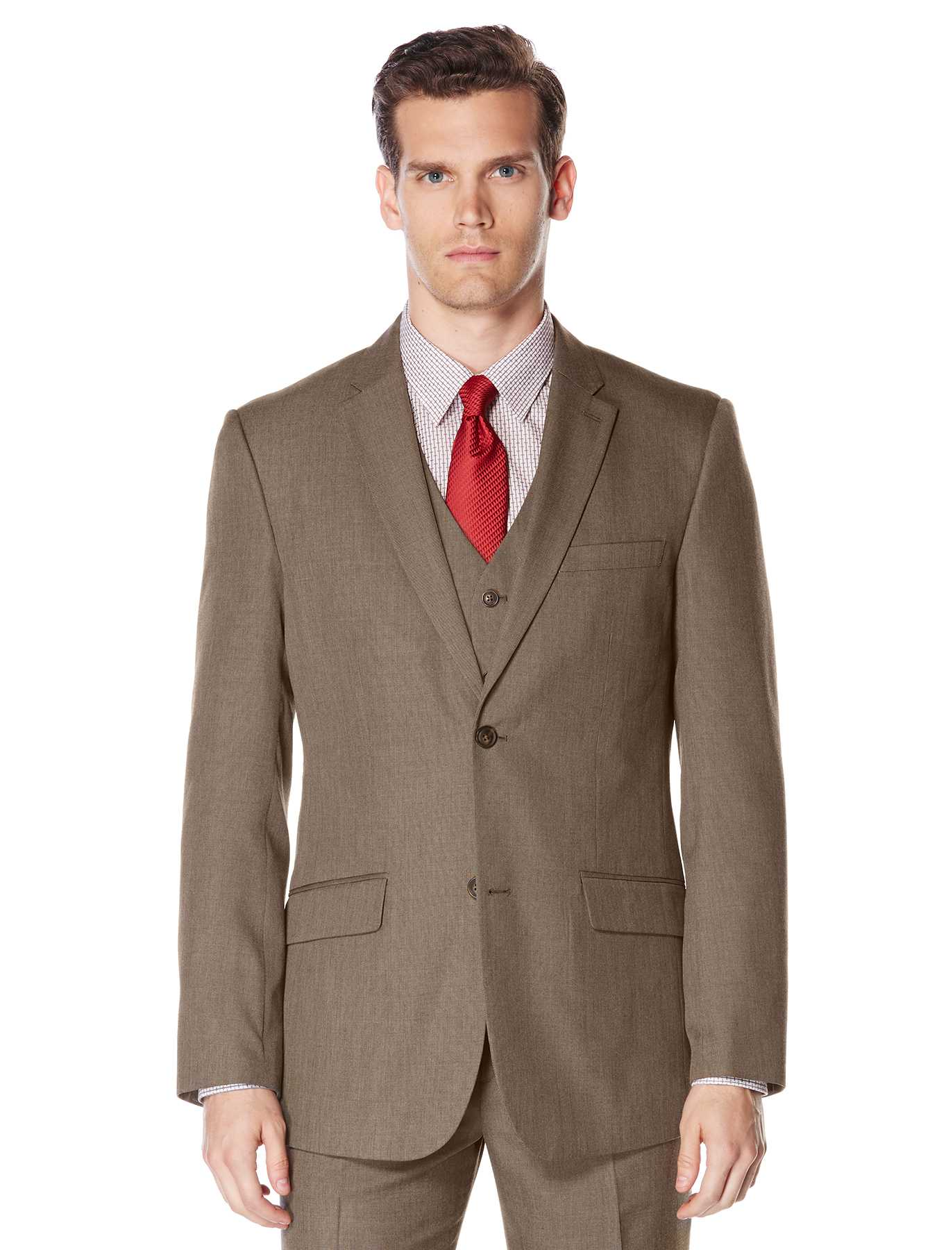 Perry Ellis Big and Tall Subtle Pattern Twill Suit Jacket