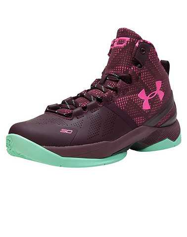 UNDER ARMOUR BOYS Burgundy Footwear / Sneakers