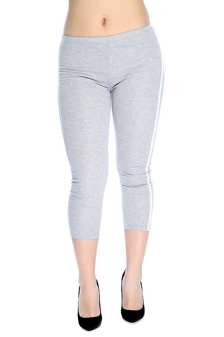 Stylish Light Grey Comfortable Fitted Leggings
