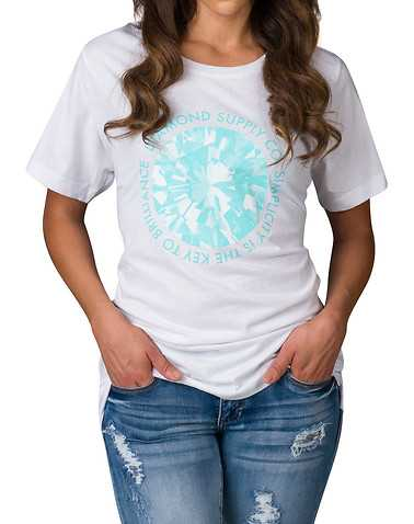 DIAMOND SUPPLY WOMEN WOMENS White Clothing / Tops