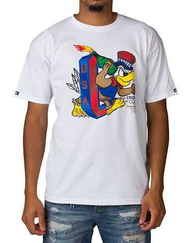 CROOKS AND CASTLES MENS White Clothing / Tops S