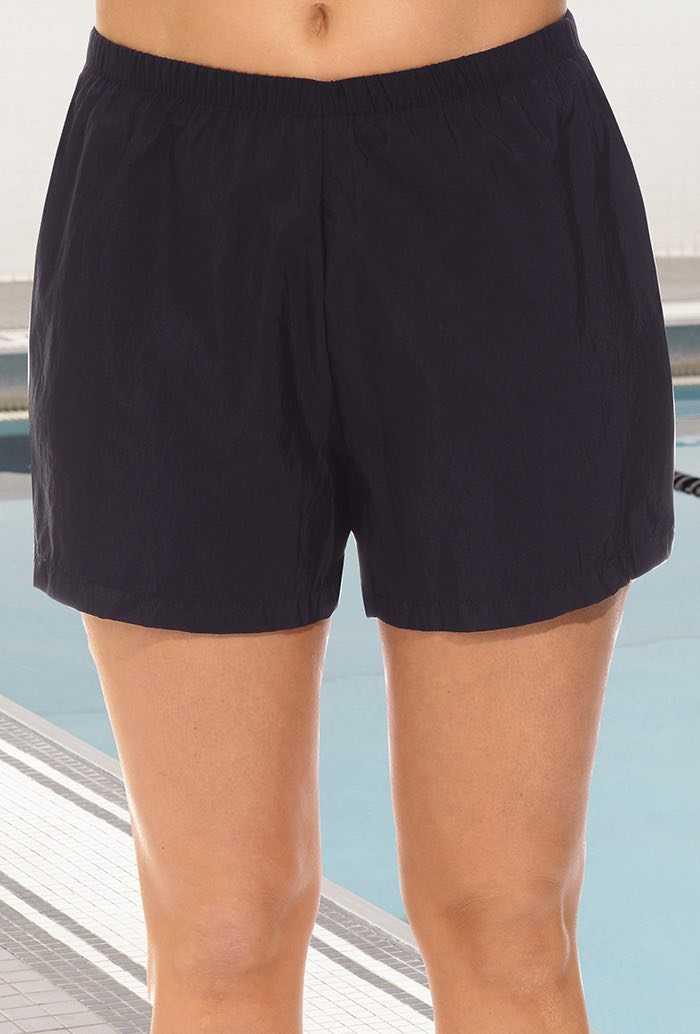 Chlorine Resistant Black Nylon Short