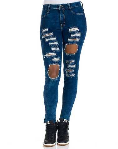 ESSENTIALS WOMENS Blue Clothing / Jeans 1/2