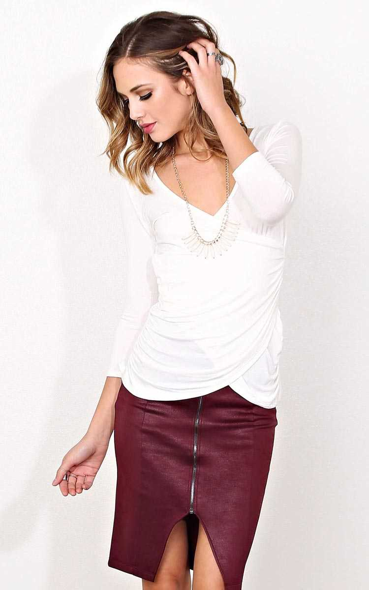 Winter Gaze Necklace Top - LGE - Ivry/Natrl in Size Large by Styles For Less