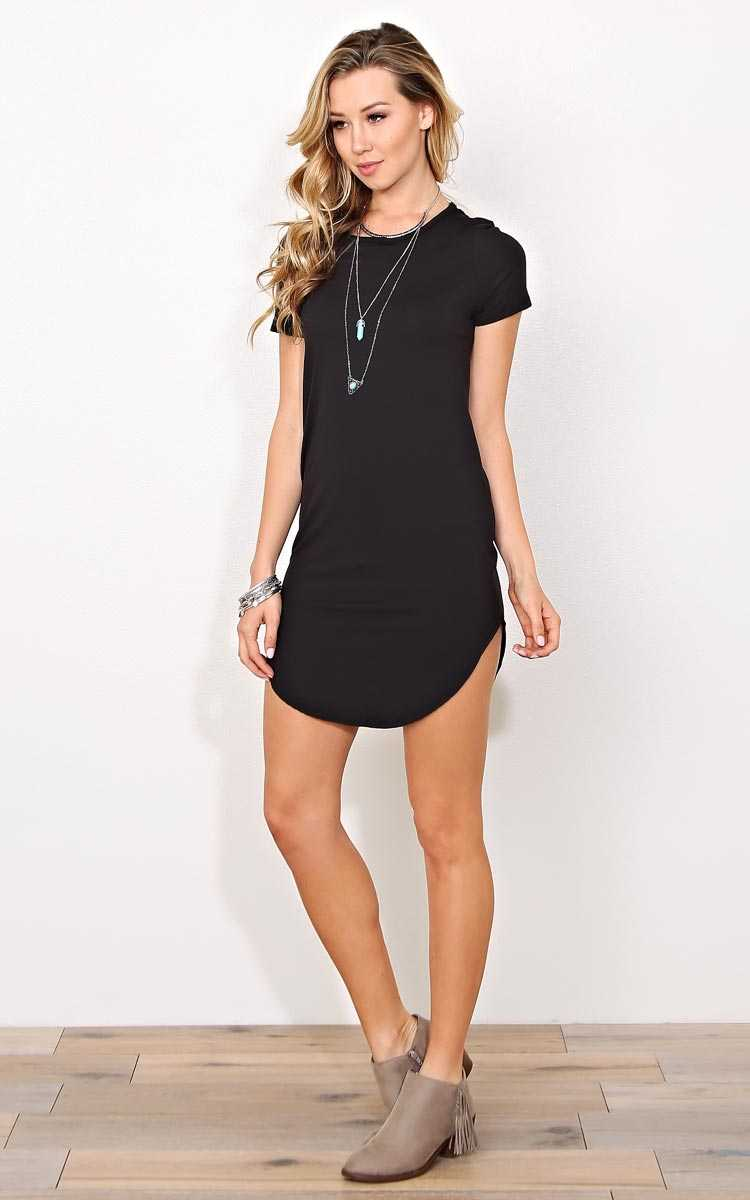 Most Wanted Scooped T Shirt Dress - - in Size by Styles For Less