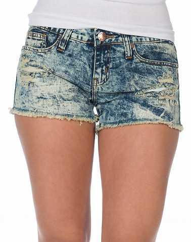 ESSENTIALS WOMENS Blue Clothing / Denim Shorts 11