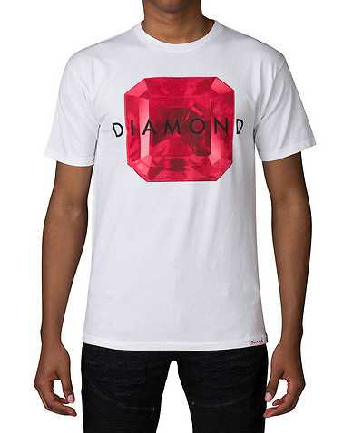 DIAMOND SUPPLY COMPANY MENS White Clothing / Tops S