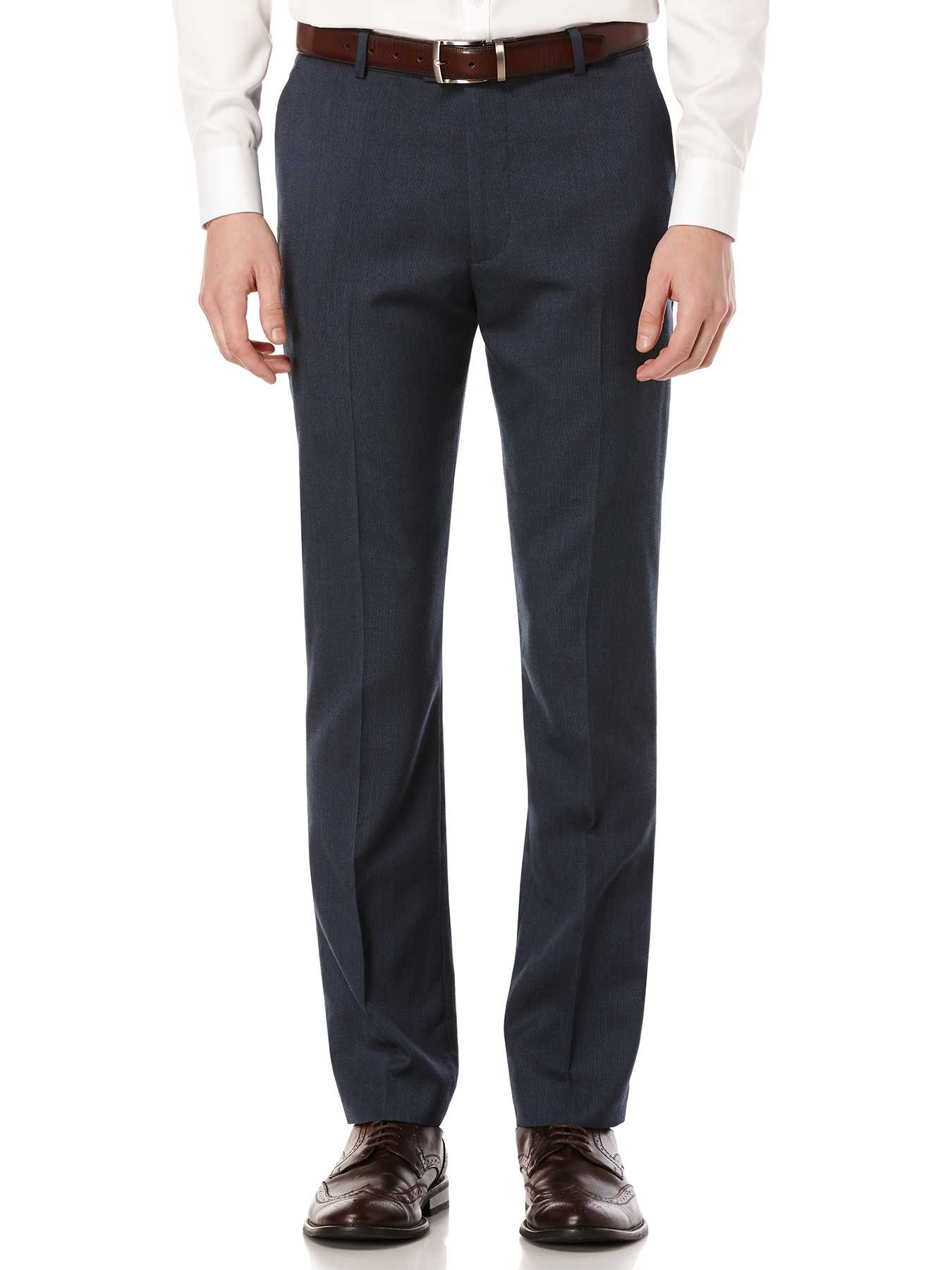 Perry Ellis Slim Fit Textured Solid Suit Pant