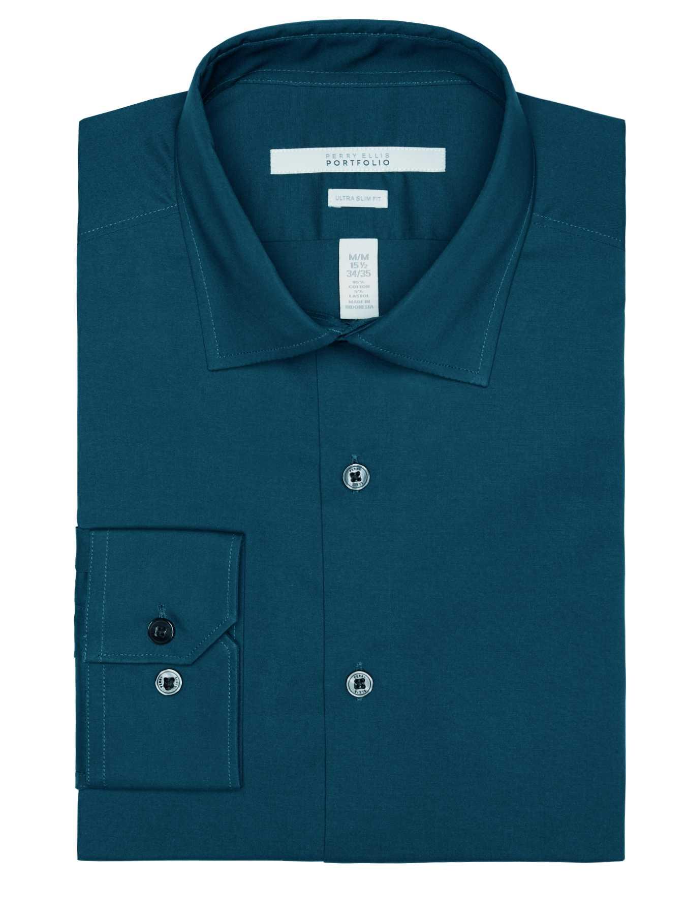 Perry Ellis Ultra Slim Solid Dress Shirt