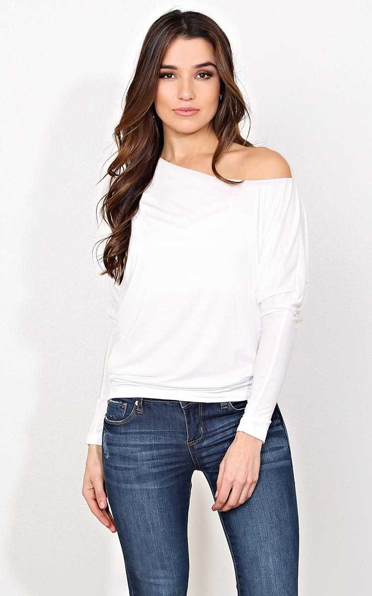 Essential Long Sleeve Knit Dolman - LGE - in Size Large by Styles For Less