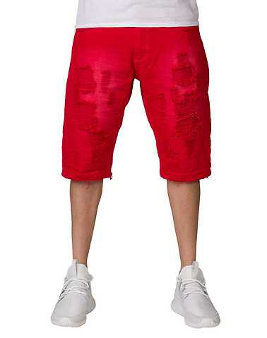 HERITAGE MENS Red Clothing / Denim Shorts 36