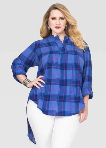 Plaid Hi-Lo Tunic