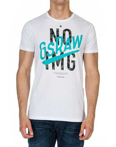 G-STAR MENS White Clothing / Tees and Polos XL