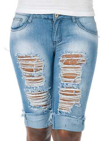 ESSENTIALS WOMENS Blue Clothing / Denim Shorts S