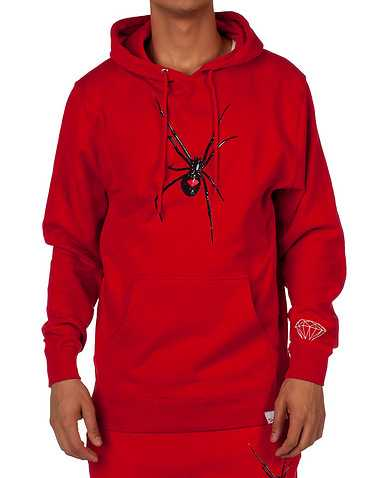 DIAMOND SUPPLY COMPANY MENS Red Clothing / Sweatshirts S