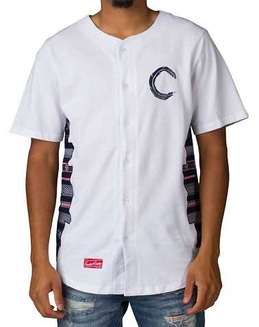 CROOKS AND CASTLES MENS White Clothing / Button Down Shirts L