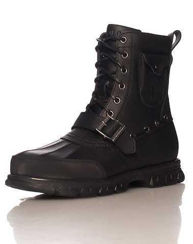 POLO FOOTWEAR MENS Black Footwear / Boots 9.5