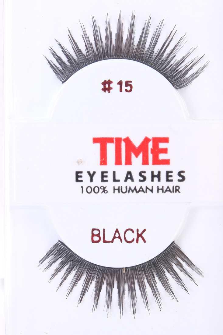 Black Full Glamour Human Hair Eyelashes