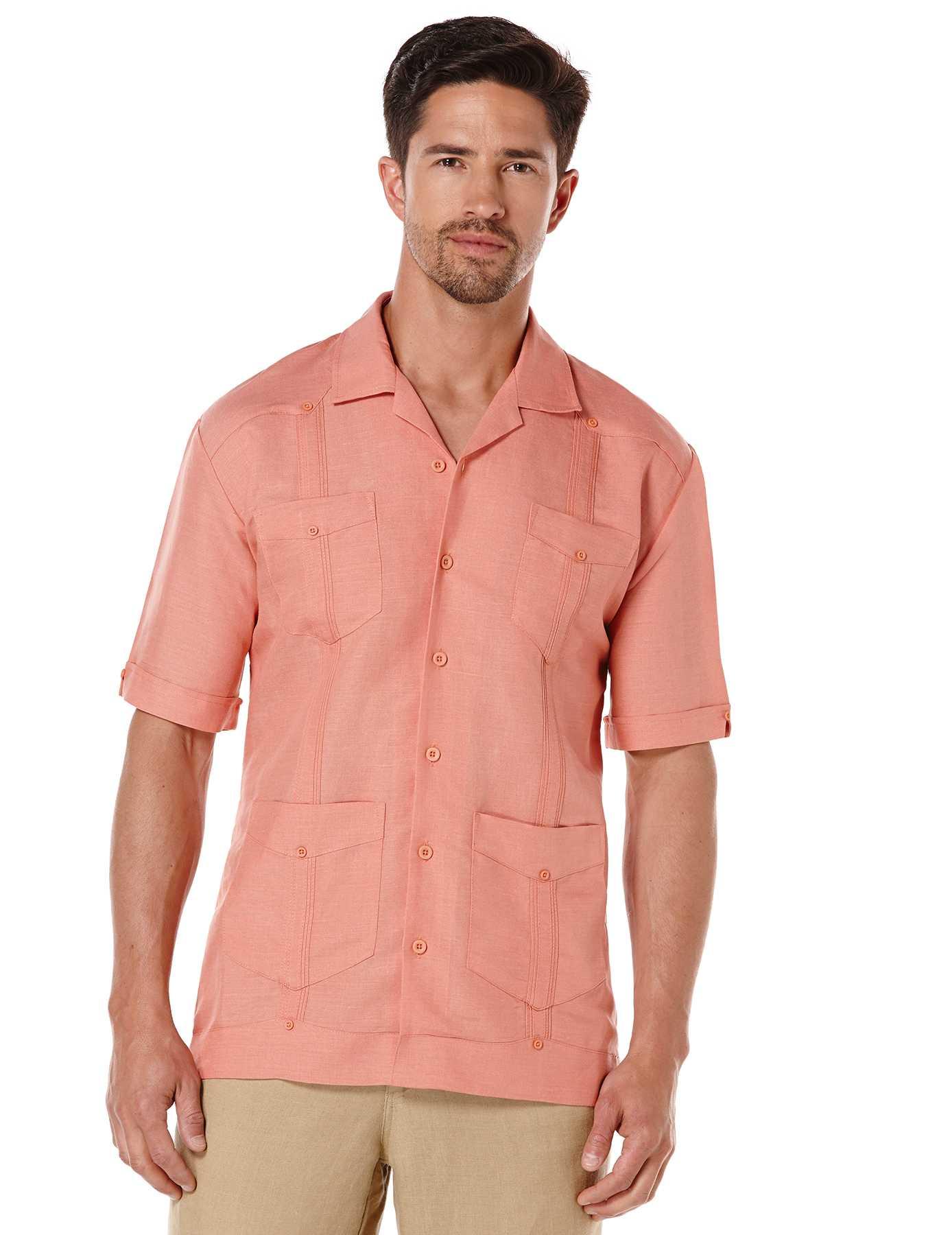 Cubavera Rayon Blend Short Sleeve Guayabera Shirt