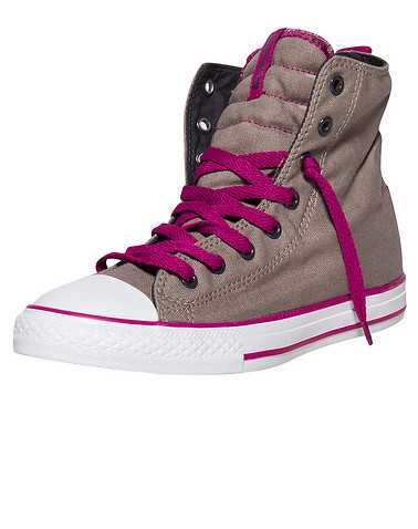 CONVERSE GIRLS Grey Footwear / Sneakers 5.5