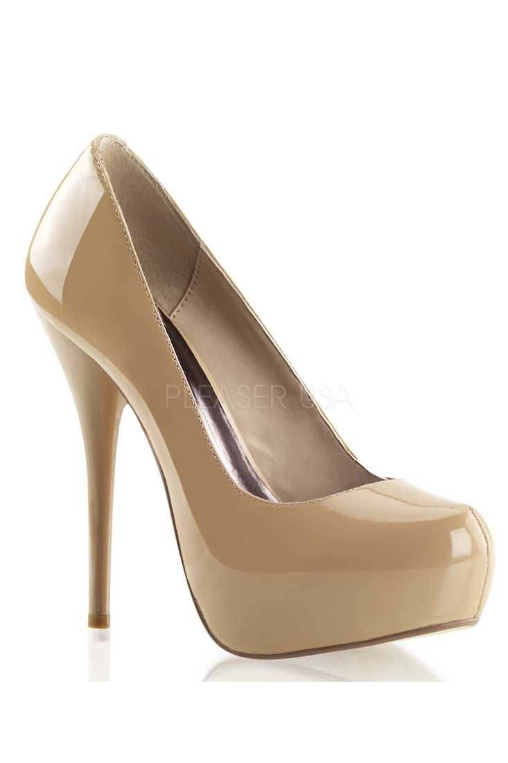 Blush Round Toe Platform High Heels Pumps Patent