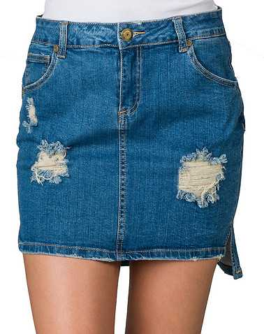 BOOM BOOM JEANS WOMENS Blue Clothing / Skirts