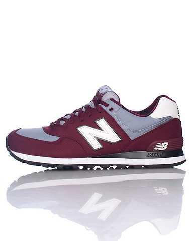 NEW BALANCE MENS Burgundy Footwear / Sneakers 10