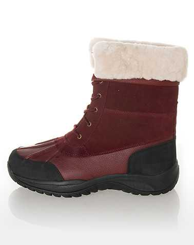 BEARPAW MENS Dark Red Footwear / Boots 8