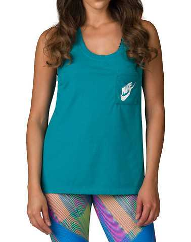 NIKE WOMENS Green Clothing / Tank Tops S