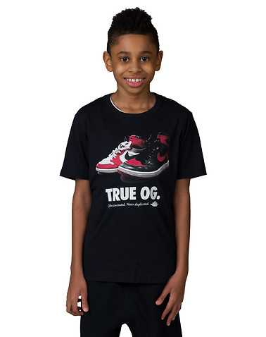 NIKE BOYS Black Clothing / Short Sleeve T-Shirts S / 4