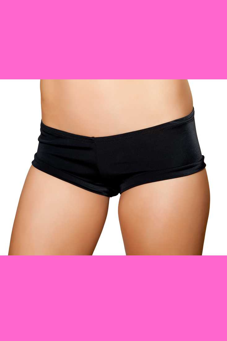 Black Stretch Fit Hot Shorts