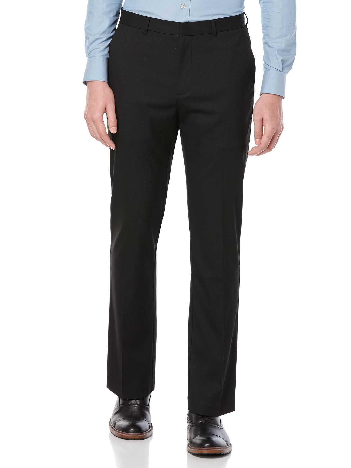 Perry Ellis Slim Fit Solid Stripe Dress Pant