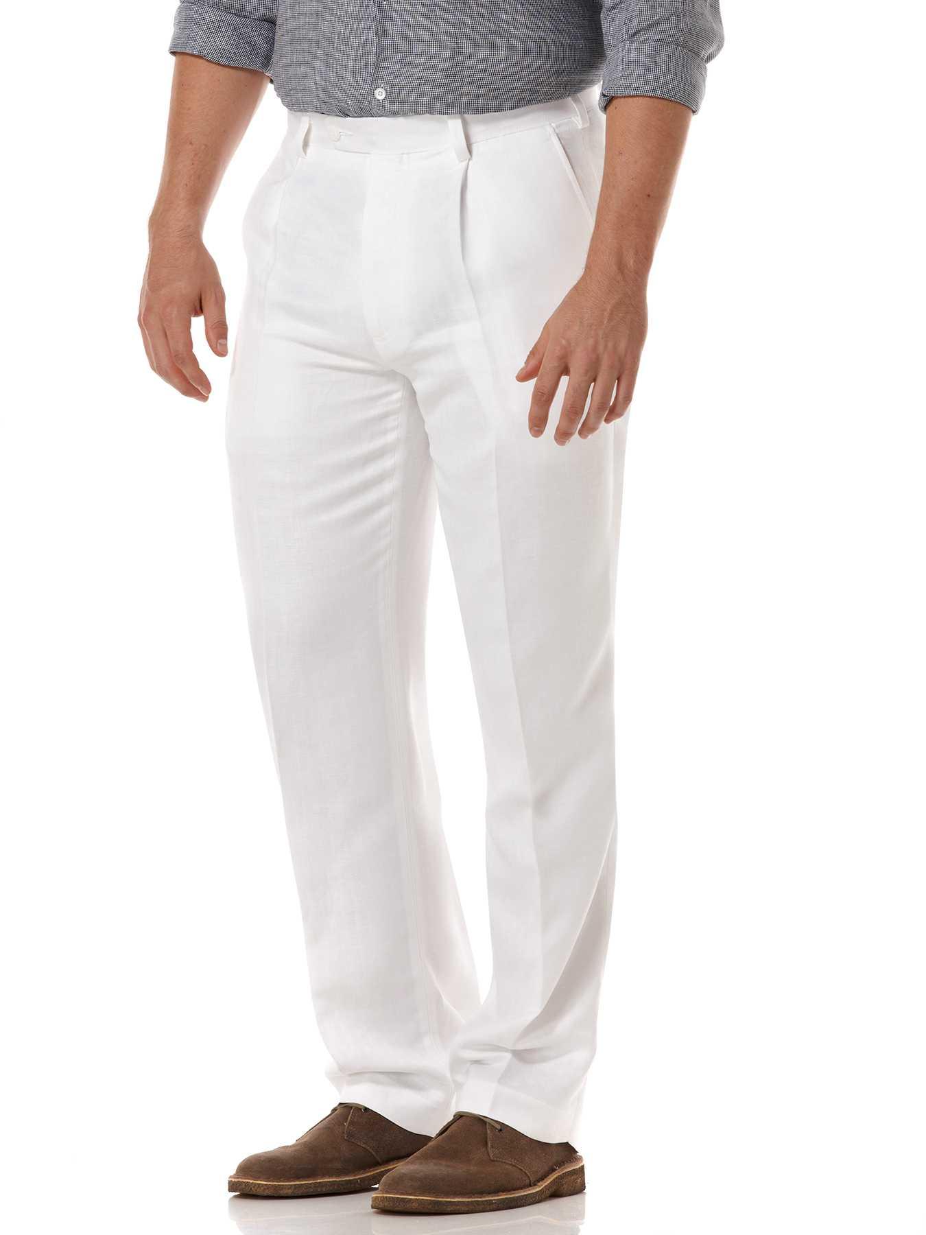Cubavera One Pleat Linen Pant