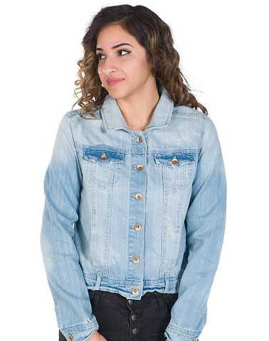 ESSENTIALS WOMENS Blue Clothing / Denim Jackets XS