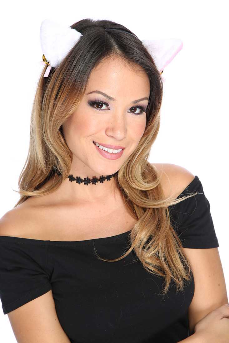 White Animal Head Band Costume Accessories