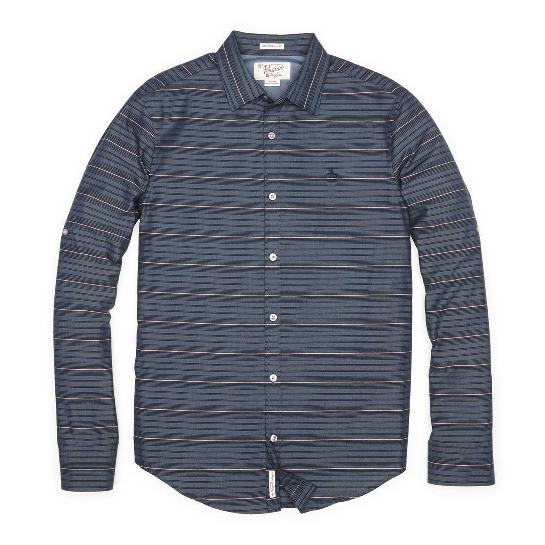Original Penguin HORIZONTAL STRIPE DOOBY SHIRT