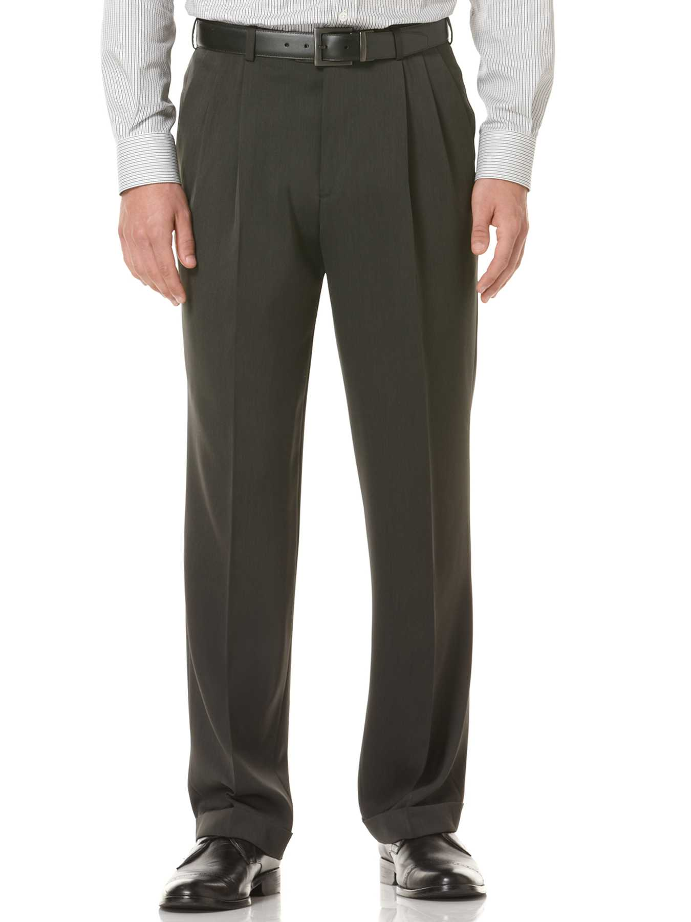 Perry Ellis Double Pleated Melange Portfolio Pant