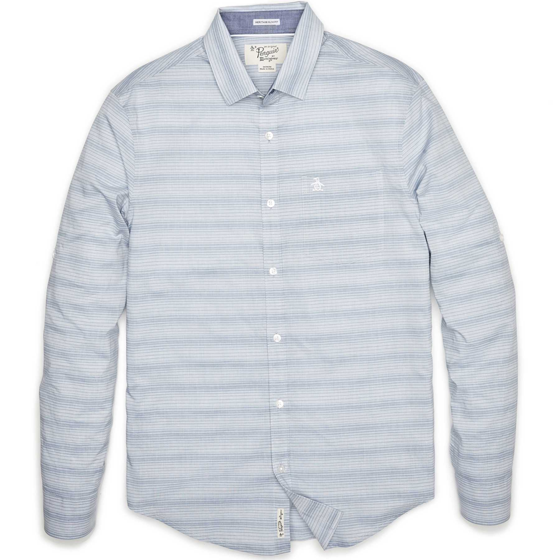 Original Penguin HORIZONTAL END ON END STRIPE SHIRT