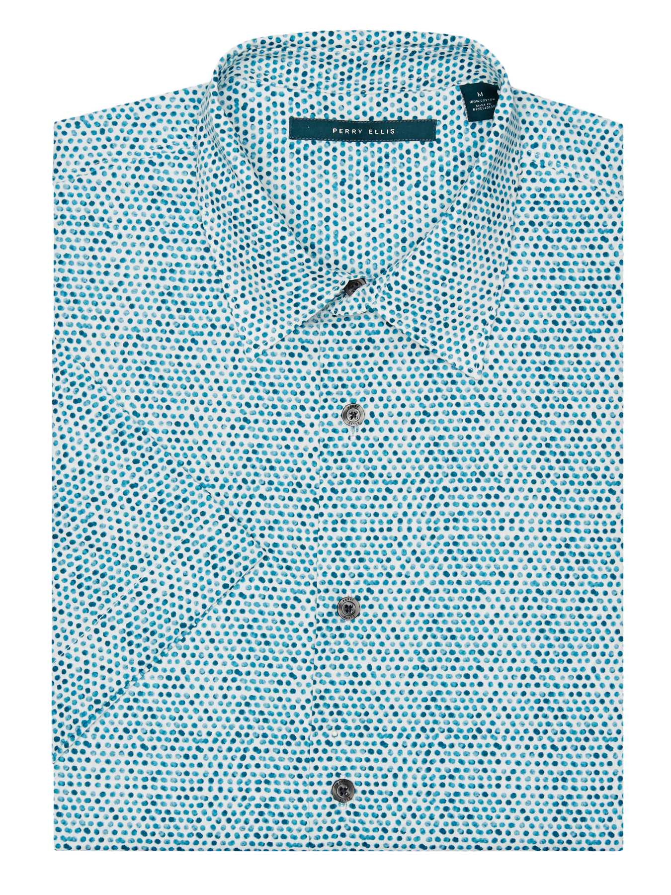 Perry Ellis Short Sleeve Watercolor Dot Shirt