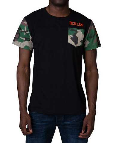 YOUNG AND RECKLESS MENS Black Clothing / Tops S