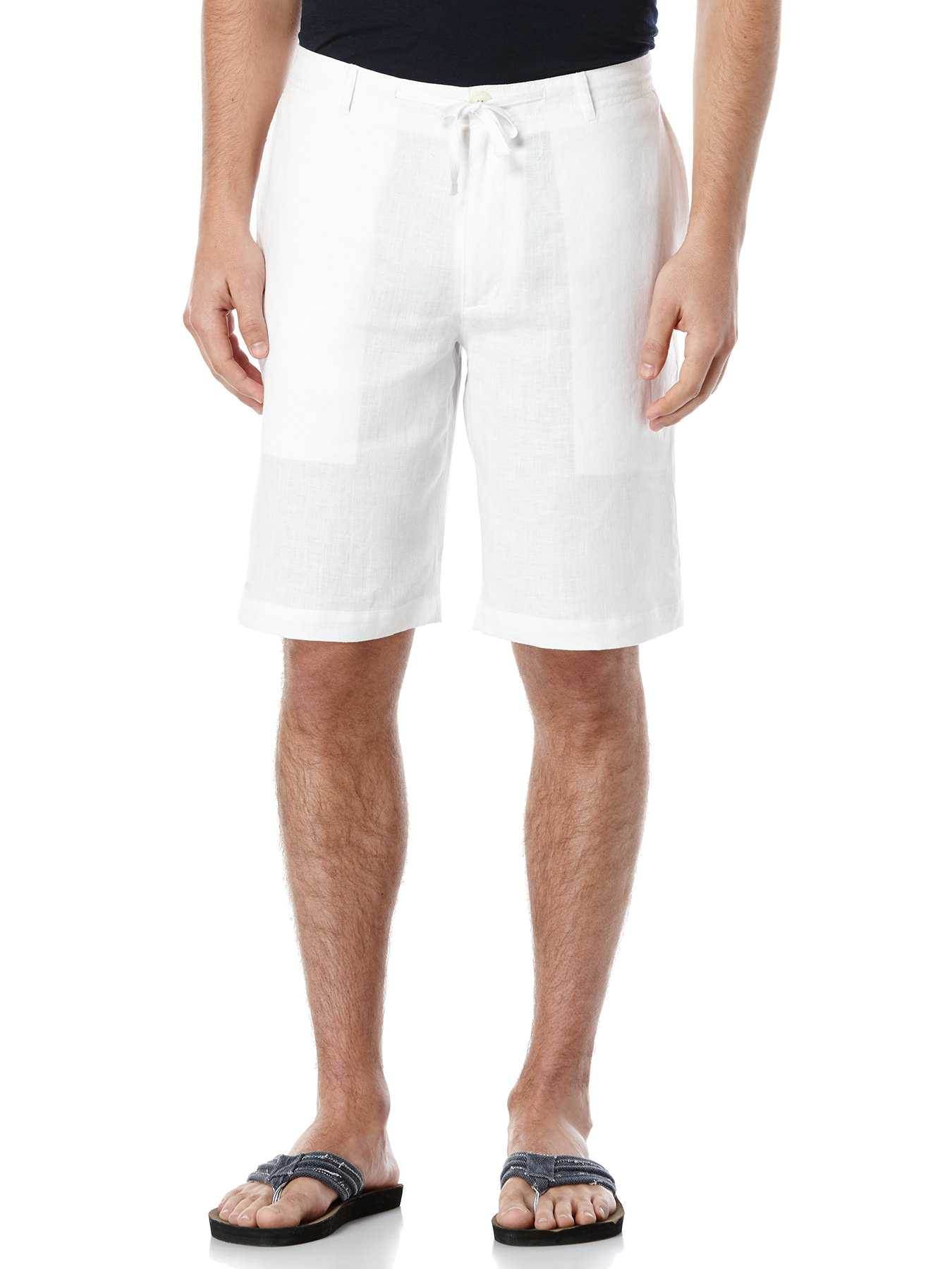 Perry Ellis Linen Washed Drawstring Short