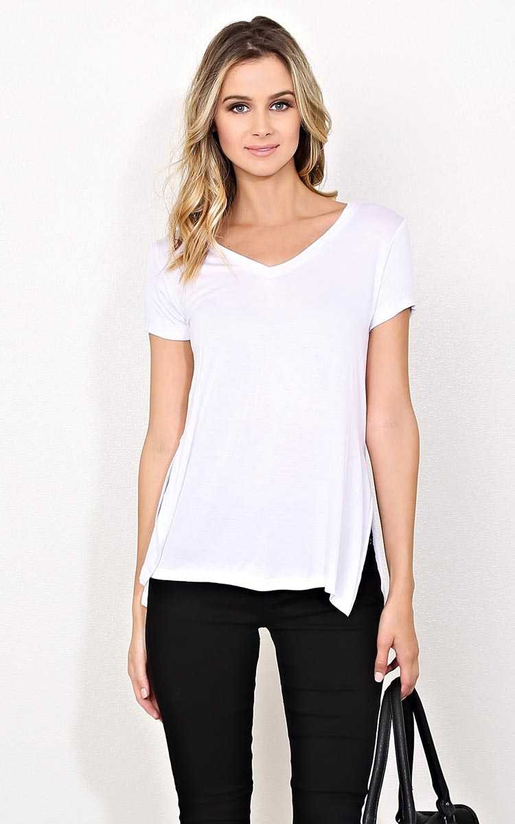 White Day Trip Knit Top - - White in Size by Styles For Less
