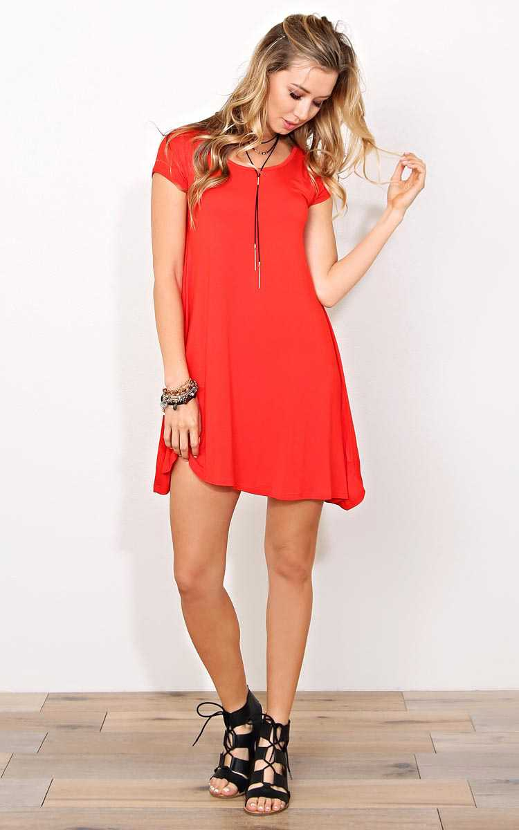 Red Back To You Knit Dress - MED - Red in Size Medium by Styles For Less