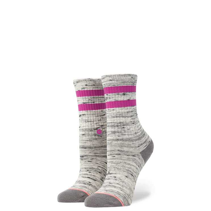 Stance Stripe Crew Girls GRY S girls Socks