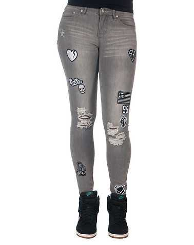 LA BELLE ROC WOMENS Grey Clothing / Jeans 5/6